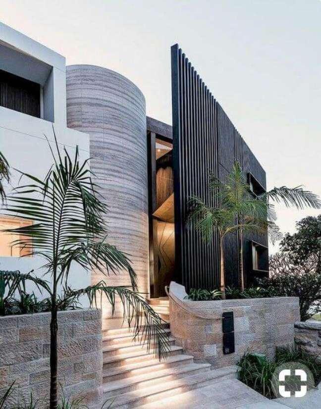 33. Cores para fachadas de casas com revestimento de pedras – Foto Sky Ryed