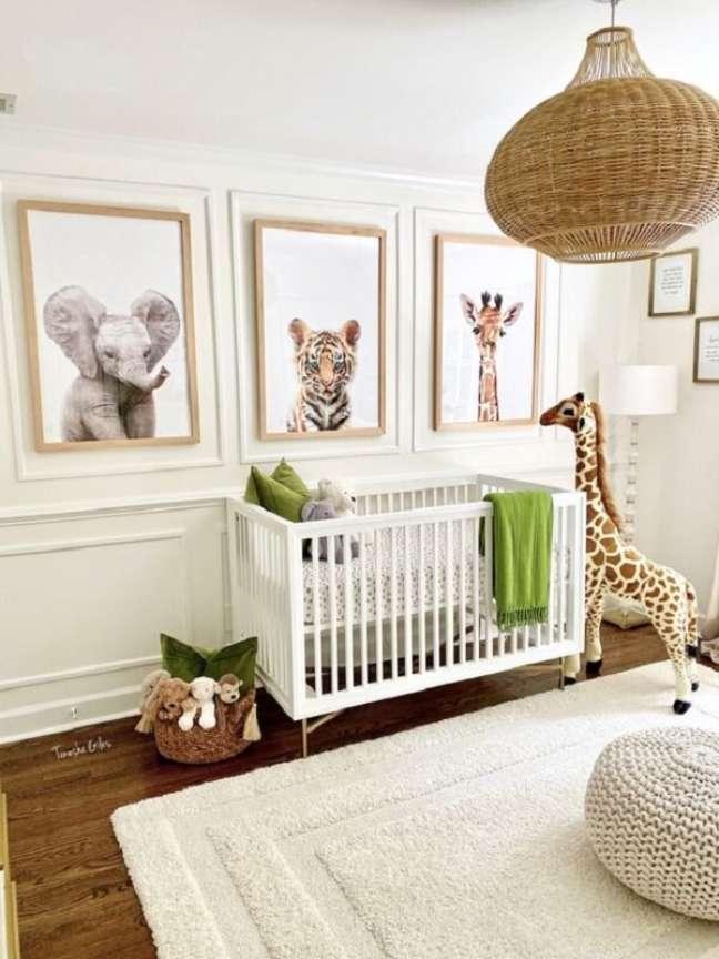 39. O quarto de bebê safari permite diversas possibilidades de decoração. Fonte: Tenesha Giles