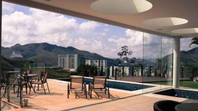 13. Móveis para piscina com fibra exposto ao sol – Foto Mutabile Arquitetura