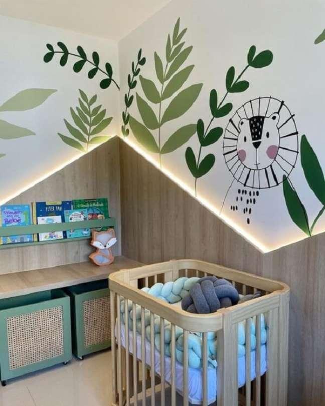 17. Aproveite todo o charme do quarto de bebê safari. Fonte: Pinterest