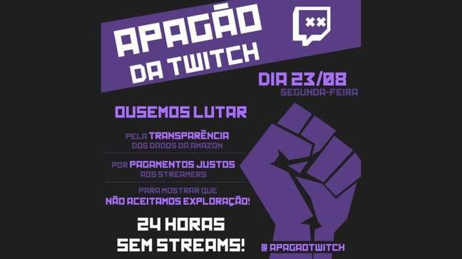 Apagão da Twitch acontece em 23 de agosto
