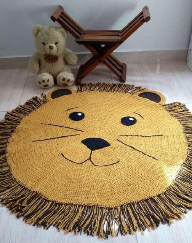 16. Aposte em tapetes com temática safari. Fonte: Pinterest