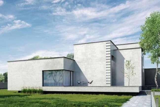 23. Cores de tintas para fachadas de casas modernas em tons de cinza – Foto Revistavd