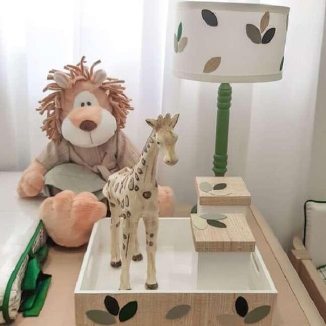 23. Detalhes que trazem beleza par ao quarto de bebê safari. Fonte: Pinterest