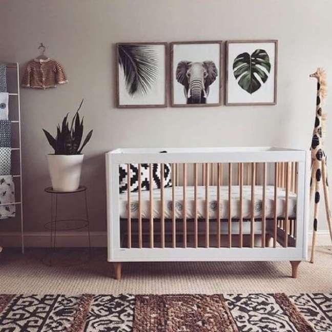 44. Projeto de quarto de bebê tema safári. Fonte: Revista Viva Decora