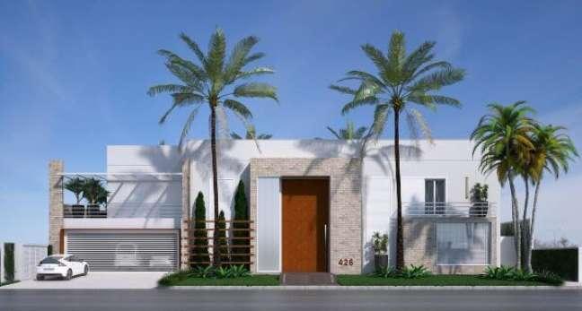 60. Fachadas de casas modernas com cores brancas e jardim – Foto olegariodesa