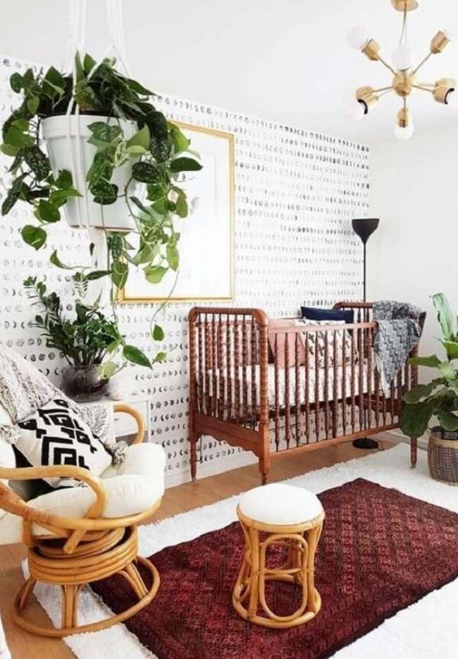 20. As plantas podem trazer um toque especial para a decoração de quarto de bebê safári. Fonte: Revista Viva Decora