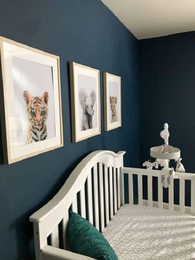 51. Quarto de bebê safari azul. Fonte: Pinterest