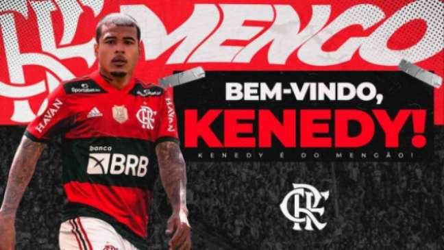 Kenedy já foi anunciado pelo Flamengo (Foto: Divulgação / Flamengo)