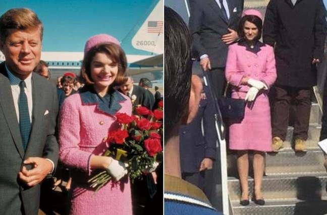 """Jackie Kennedy e Natalie Portman com o tailleur """"cópia"""" da Chanel"""