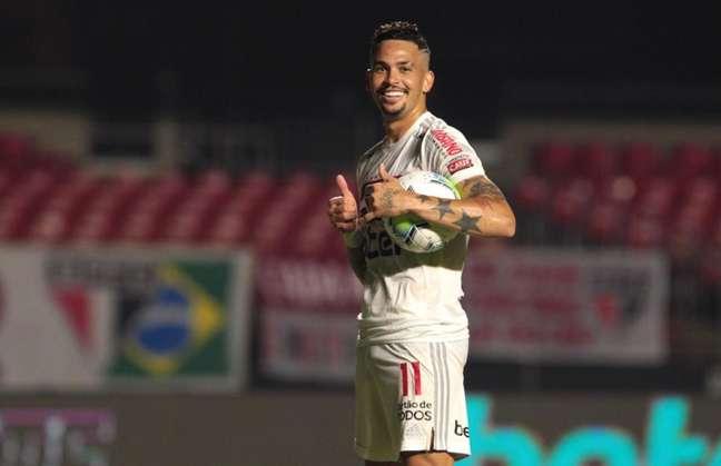 Luciano estreou pelo São Paulo há um ano (Foto: Reprodução/ Twitter @SaoPauloFC)