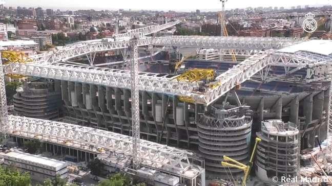 Estádio Santiago Bernabéu passou por reformas