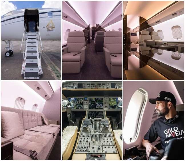 Detalhes do jato executivo usado por ricos e famosos; e Diego Costa a bordo