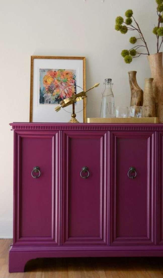 59. Buffet vintage na cor pink – Foto Savaged Inspirations