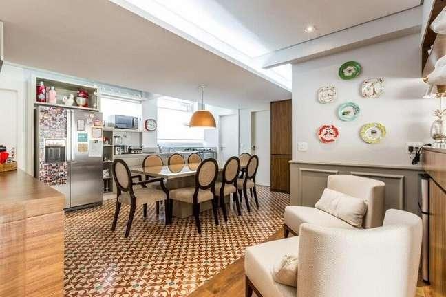 38. Decoração de cozinha aberta com sala de jantar integrada – Foto: Rima Arquitetura