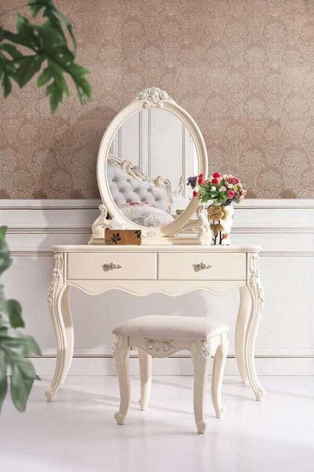 15. Decoração com móveis vintage para quarto com penteadeira antiga – Foto de Catálogo Móveis CNC Interior e Syalendra Furniture