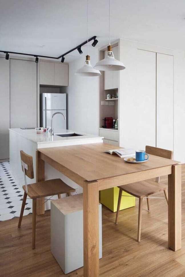 13. Armários planejados para decoração de cozinha aberta com ilha – Foto: Home Fashion Trend