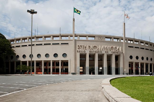 O Museu do Futebol está localizado no Estádio do Pacaembu, em São Paulo