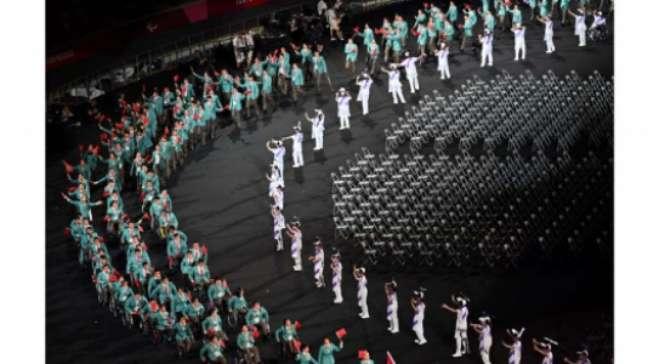 Cerimônia de abertura empolgou os atletas (Charly Triballeau/ AFP)
