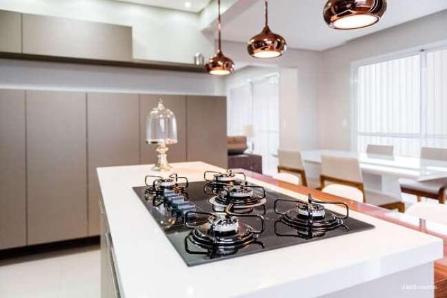 9. Procure utilizar todos os queimadores do seu fogão ou cooktop. Projeto de Atrio Engenharia e Arquitetura