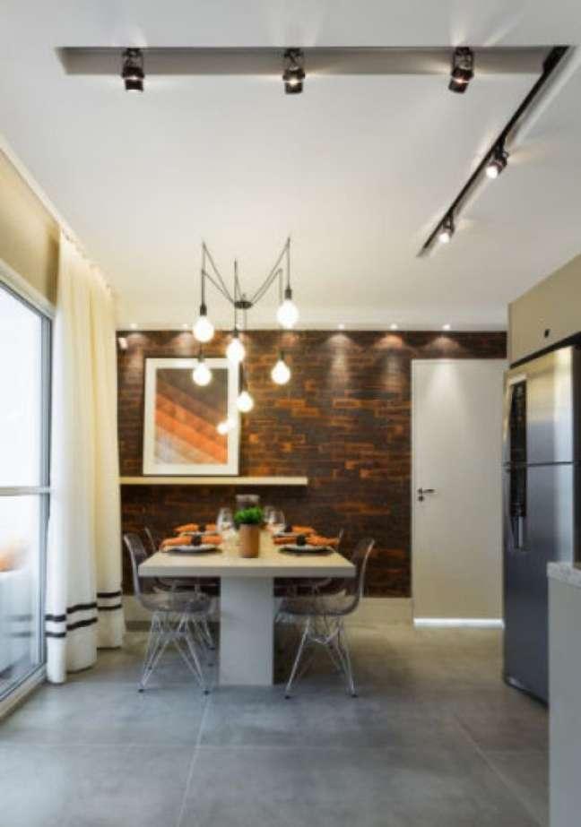 58. Porcelanato cimento queimado na cozinha moderna – Foto Habitissimo