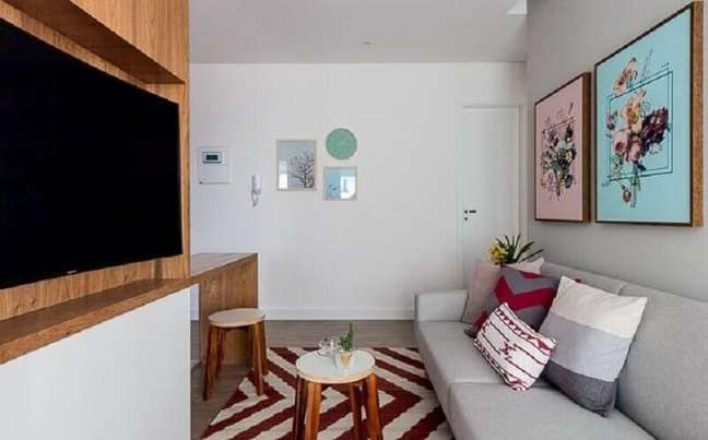 61. Ideias de cores para sala pequena e simples – Foto: Duda Senna