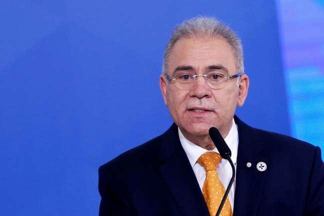 Ministro da Saúde, Marcelo Queiroga, durante cerimônia no Palácio do Planalto 05/08/2021 REUTERS/Adriano Machado