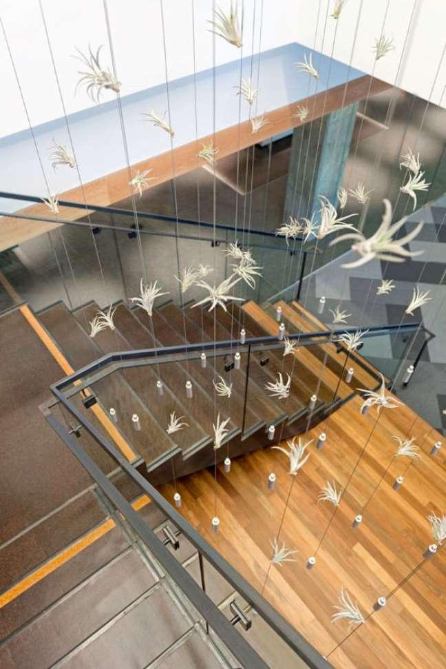 15. Lustre decorado com plantas aéreas – Foto Jasper Sanidad Projeto Studio O+A