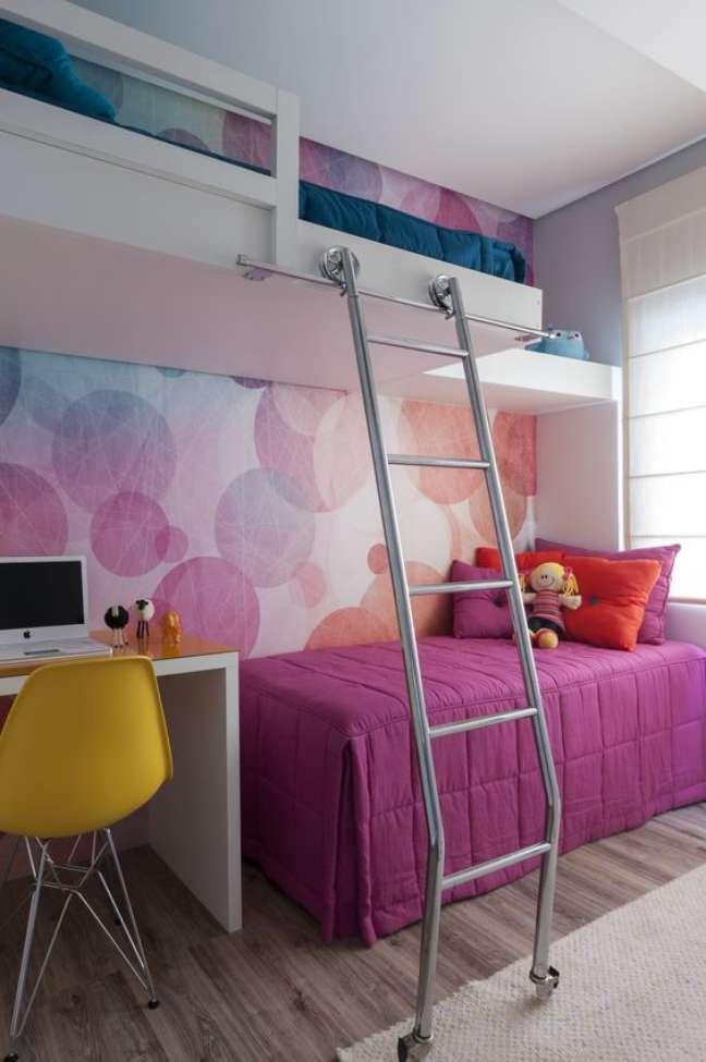 4. Como escolher colchão de solteiro para quarto infantil bem decorado – Foto Adriana Fontana