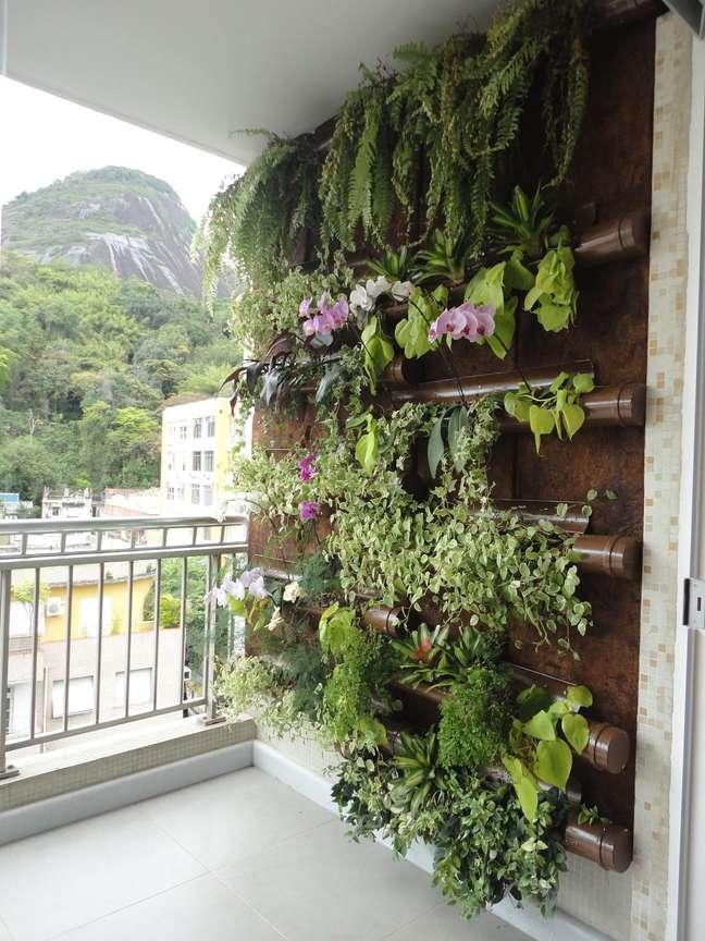 1. Jardim vertical decorado com plantas aéreas – Foto Ana Flavia Teixeira