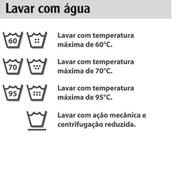 Símbolos que indicam como deve ser feita a lavagem com água (Foto / Divulgação / Quality Lavanderia)