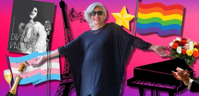 Divina Valéria 'abalou' Paris e agora faz apresentações online em comemoração aos 60 anos de carreira