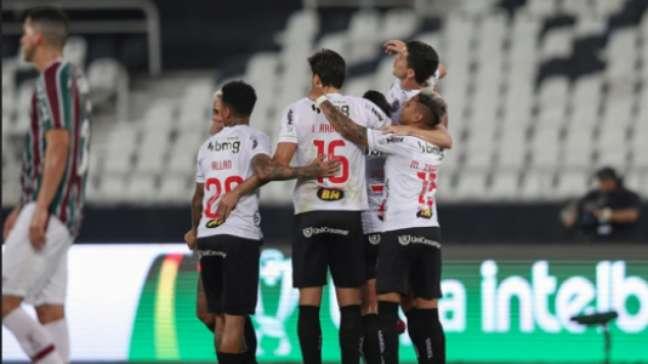 Galo tem a vantagem do empate na volta (Foto: Pedro Souza/Atlético)