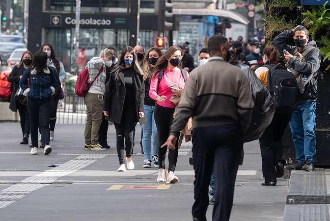 Movimentação na região da Avenida Paulista