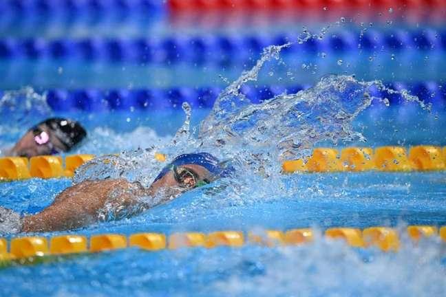Gabriel Bandeira conquistou o primeiro ouro do Brasil em Tóquio (Oli SCARFF / AFP)