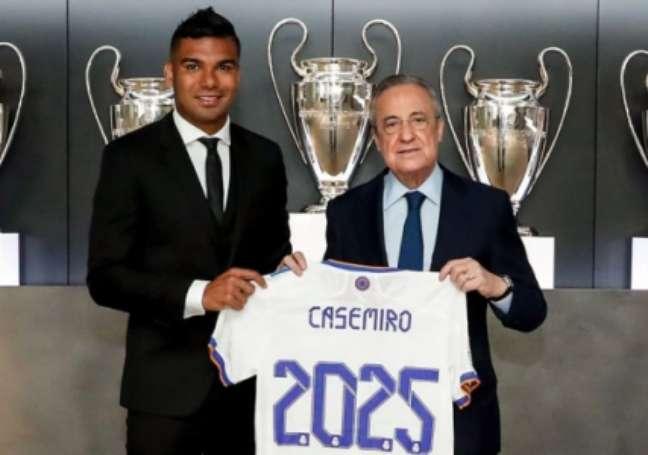 Casemiro assina contrato com o Real Madrid até 2025 (Divulgação/Real Madrid)