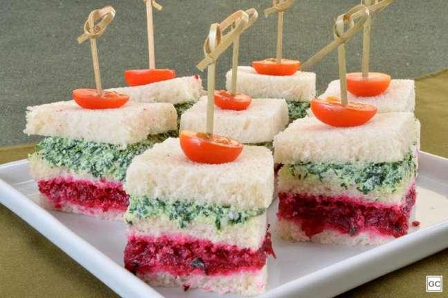 Guia da Cozinha - Lanchinho colorido de beterraba e espinafre