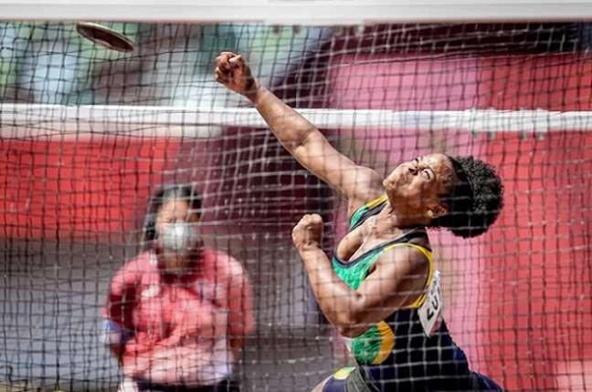 Julyana da Silva conquista medalha de bronze para o Brasil no atletismo (Foto: Wander Roberto/CPB)