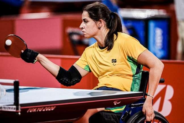 Cátia Oliveira conquistou a medalha de bronze nas Paralimpíadas (Reprodução/CPB)