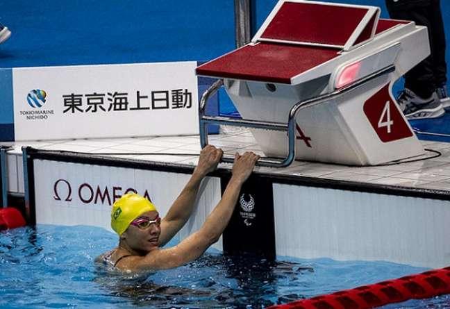 Maria Santiago conquistou vaga na final dos 50m livre S12 com quebra de recorde paralímpico (Foto: Ale Cabral/CPB)