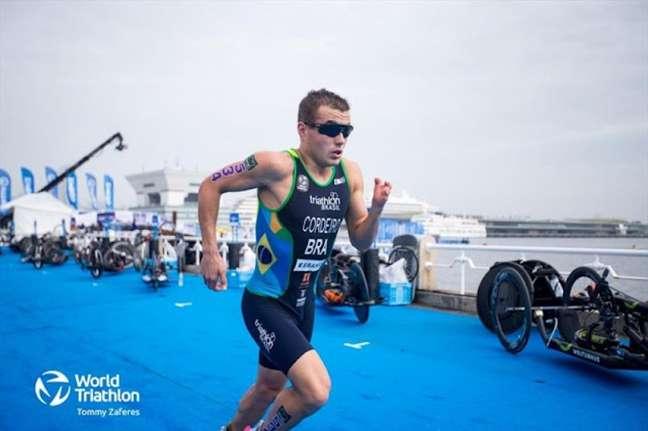 Ronan Cordeiro ficou na quinta colocação na prova masculina (Foto: Tommy Zaferes/World Triathlon)