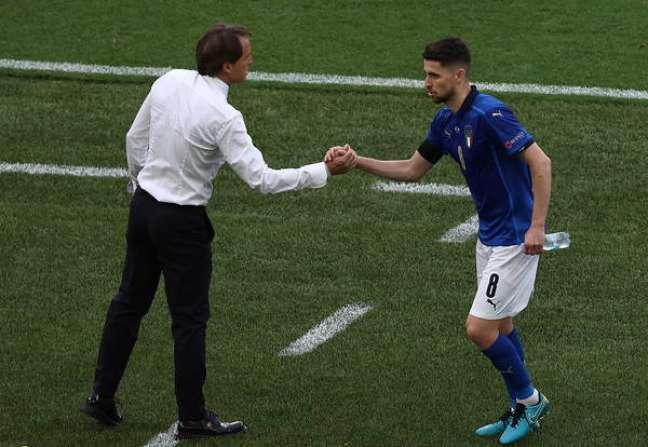 Jorginho é um dos homens de confiança de Mancini na seleção italiana
