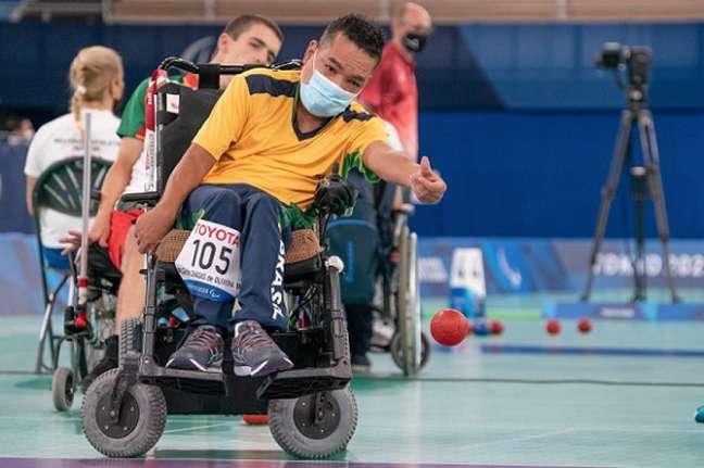 José Carlos Chagas em ação nos Jogos Paralímpicos de Tóquio (Foto: Fabio Chey/CPB)