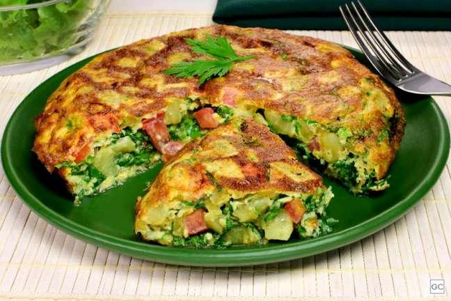 Guia da Cozinha - Omelete de batata-doce: opção de refeição fit e nutritiva