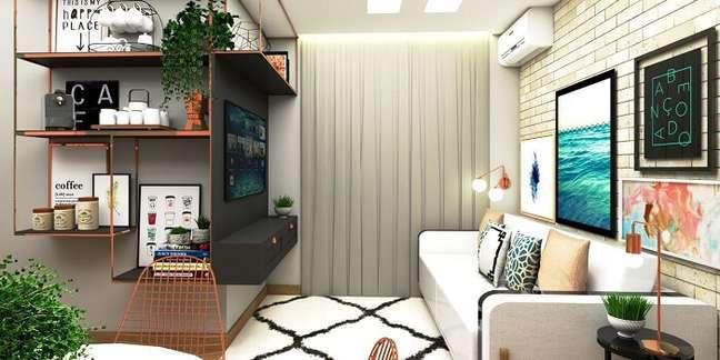 21. Sala pequena planejada estilo escandinavo. Projeto de G+G Interiores