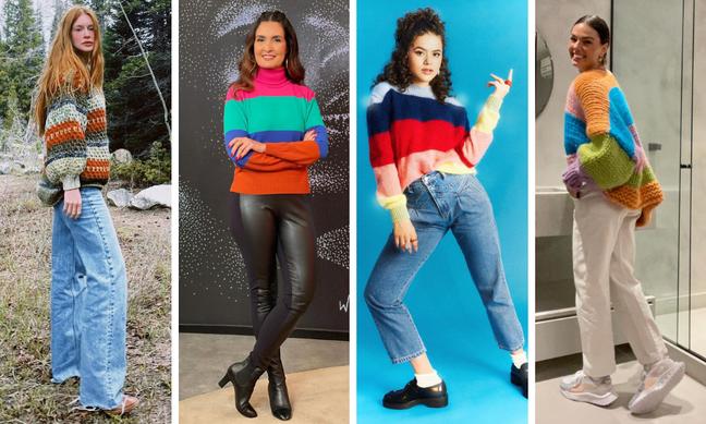 Marina, Fátima, Maísa e Isis exibem tricôs coloridos (Fotos: Reprodução/Instagram)