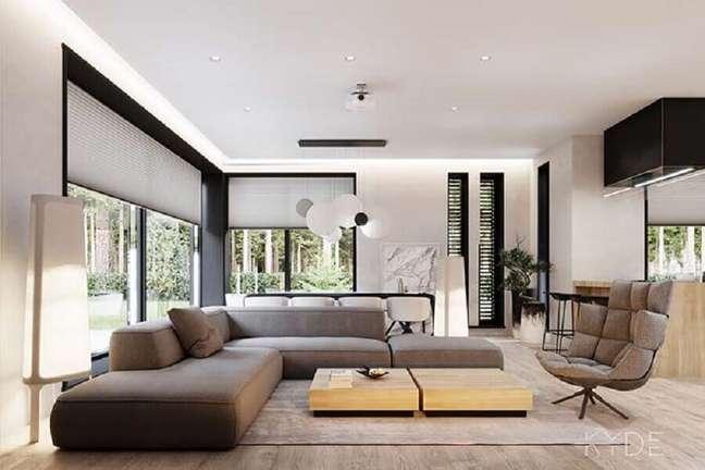49. Tipos de sofás modular de canto para decoração de sala moderna – Foto: Behance
