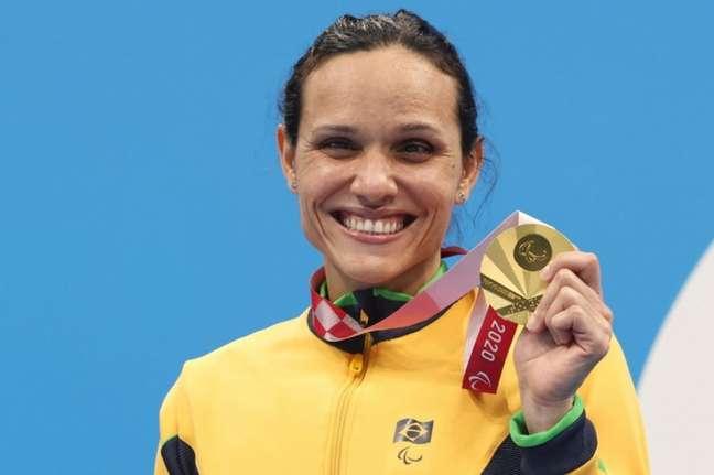 Carol Santiago já tem duas medalhas de ouro em Tóquio (Foto: Mirian Jeske/CPB)
