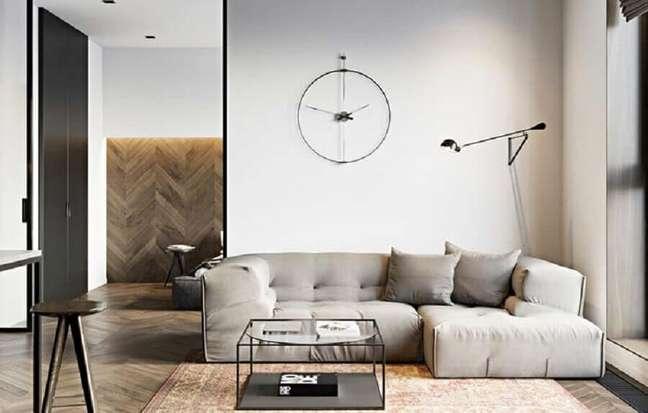 26. Tipos de sofá para decoração de sala minimalista – Foto: Decor Fácil