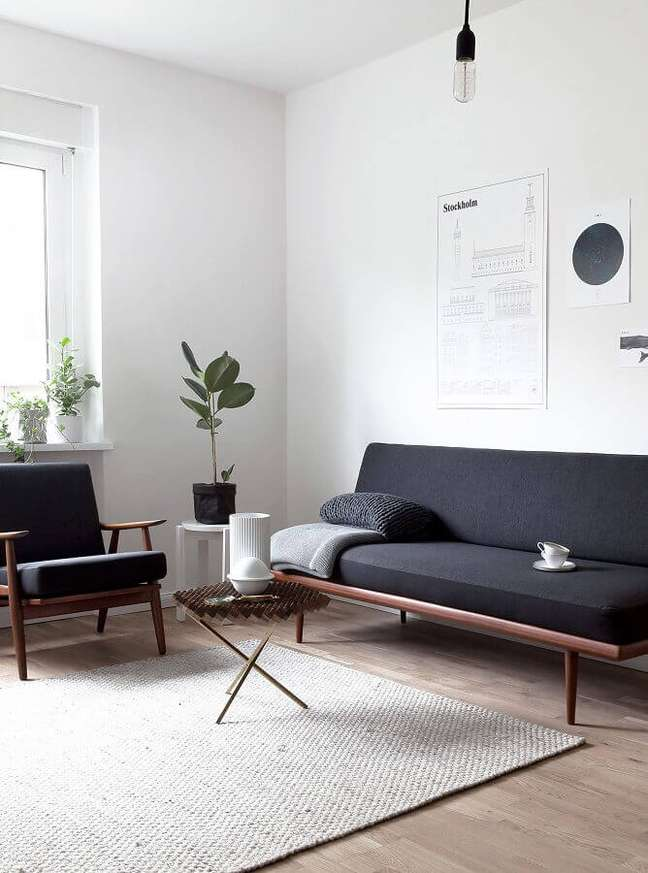 27. Tipos de sofá para decoração de sala simples e minimalista – Foto: Arkpad